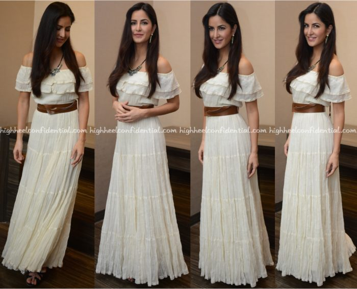 Katrina Kaif Wears Label Ritu Kumar To Baar Baar Dekho Promotions In Delhi