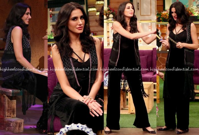 nargis-fakhri-photographed-in-hm-on-the-kapil-sharma-show-sets-for-banjo-promotions-1