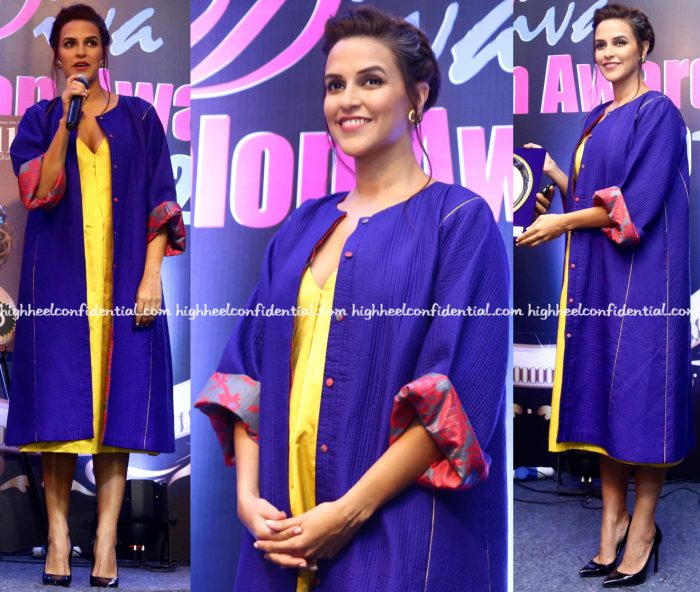 neha-dhupia-wears-sanjay-garg-to-idiva-salon-awards-2016-2