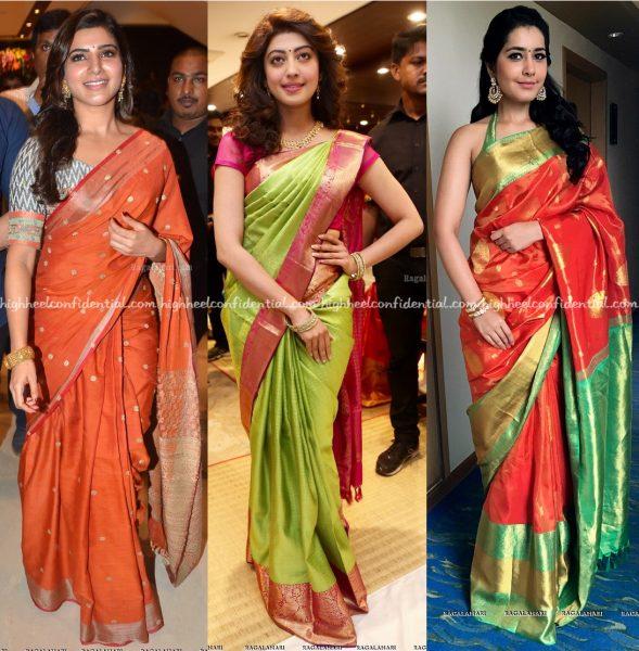 samantha-ruth-prabhu-at-south-india-shopping-mall-launch-pranitha-subhash-at-vrk-silks-launch-and-raashi-khanna-at-kalamandir-store-launch-1