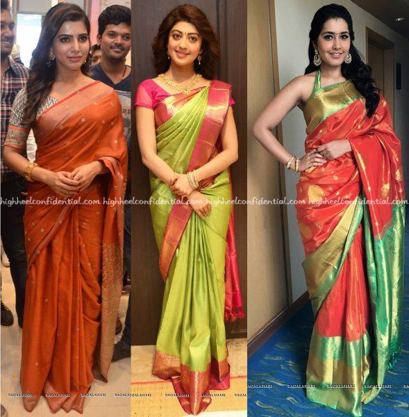 samantha-ruth-prabhu-at-south-india-shopping-mall-launch-pranitha-subhash-at-vrk-silks-launch-and-raashi-khanna-at-kalamandir-store-launch-2