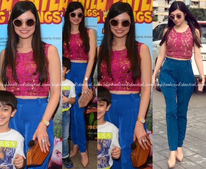 divya-khosla-kumar-in-ash-haute-couture-at-motu-patlu-screening