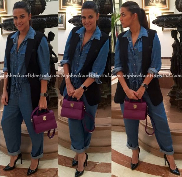 neha-dhupia-mumbai-airport-dior-bag-marks-and-spencer-hm-2