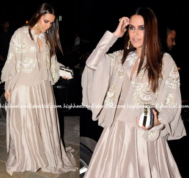 neha-dhupia-in-manish-malhotra-at-bachchan-diwali-bash-1