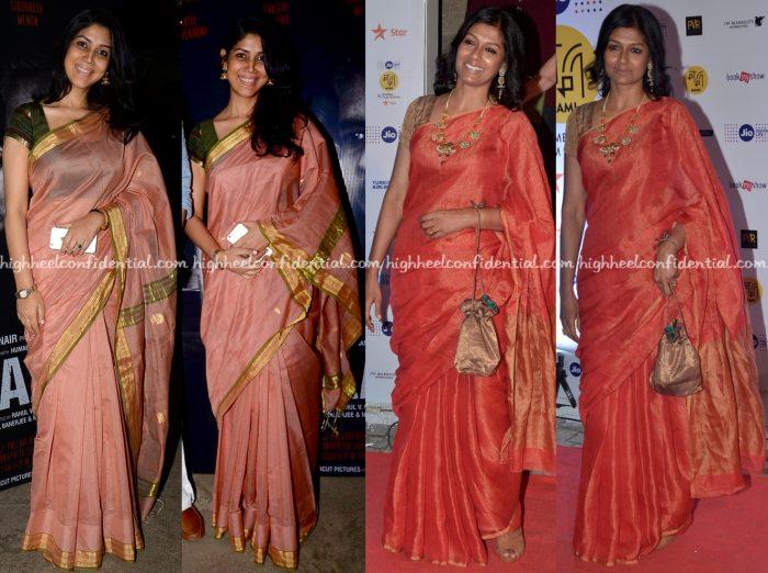 sakshi-tanwar-at-azad-screening-and-nandita-das-at-mami-mumbai-film-festival-2016-opening-night