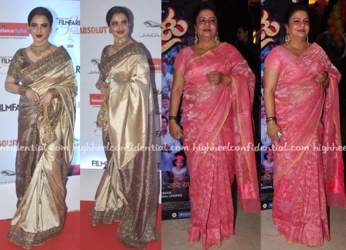 rekha-madhu-chopra-sari-filmfare-glamour-style-awards-2016