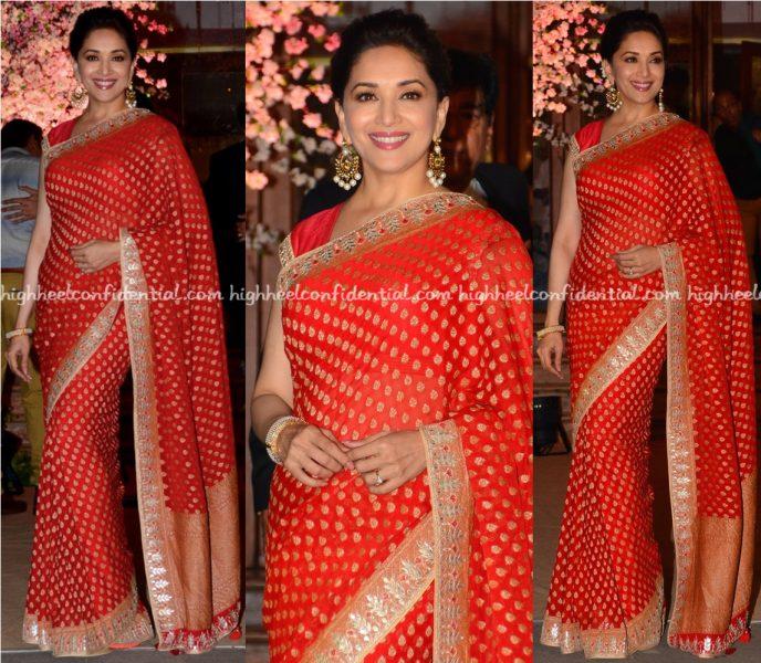 madhuri-dixit-wears-anita-dongre-to-shaina-naths-wedding-1