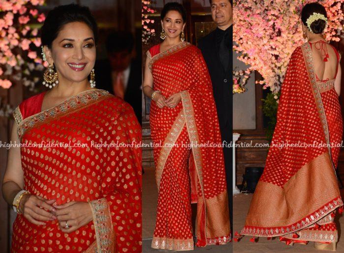 madhuri-dixit-wears-anita-dongre-to-shaina-naths-wedding-2