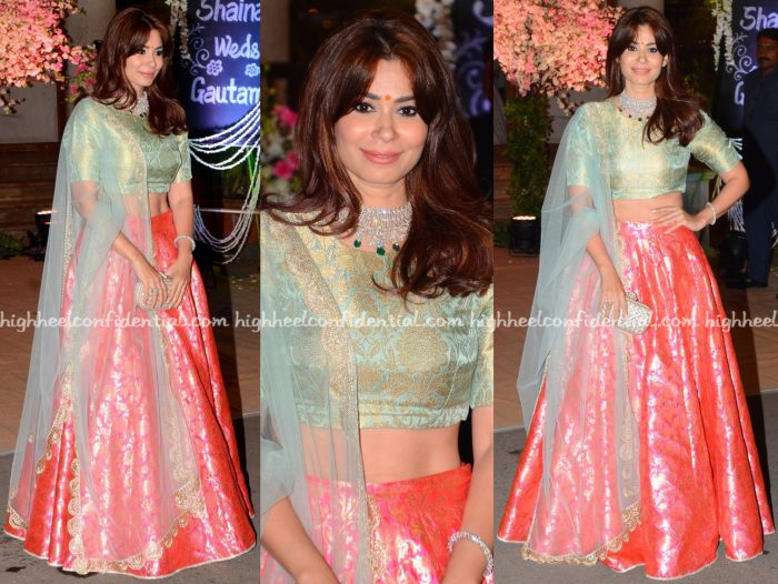 shaheen-abbas-wears-payal-singhal-to-shaina-naths-wedding-reception