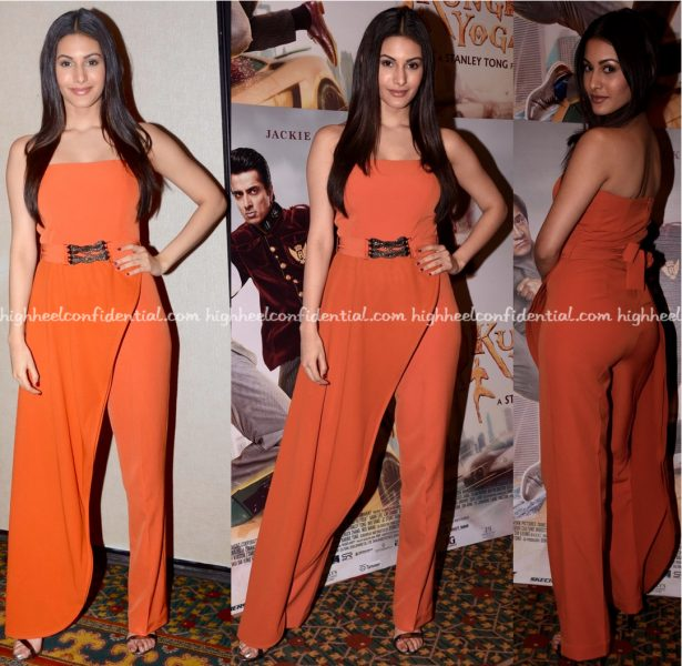 Amyra Dastur In Anome At Kung Fu Yoga Promotions