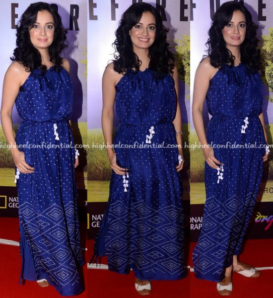 Dia Mirza Wears Anita Dongre Grassroot To Before The Flood Screening