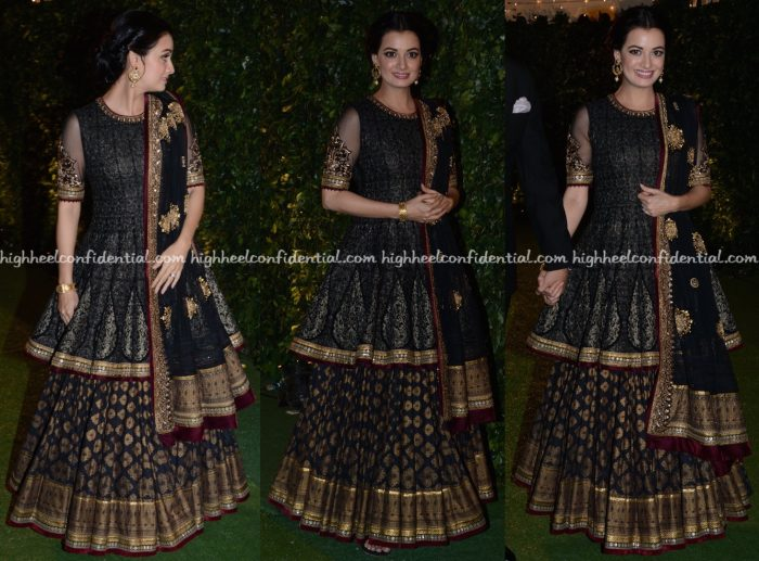 Dia Mirza Wears Tarun Tahiliani To Trishya Screwvala-Suhail Chandhok Wedding Reception