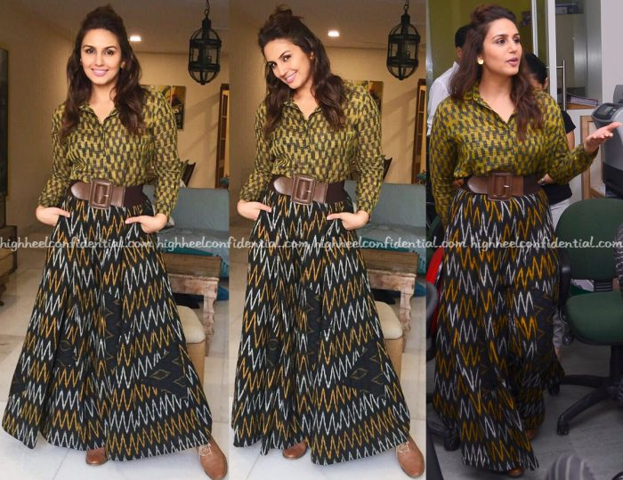 Huma Qureshi Wears Bungalow 8 To Jolly LLB 2 Promotions