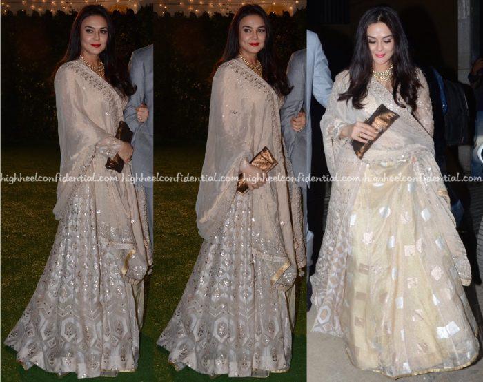 Preity Zinta Wears Anita Dongre To Trishya Screwvala-Suhail Chandhok Wedding Reception-1