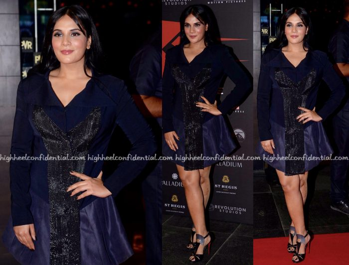 Richa Chadha Wears Priyanka Gangwal To XXX- Return Of Xander Cage Mumbai Premiere