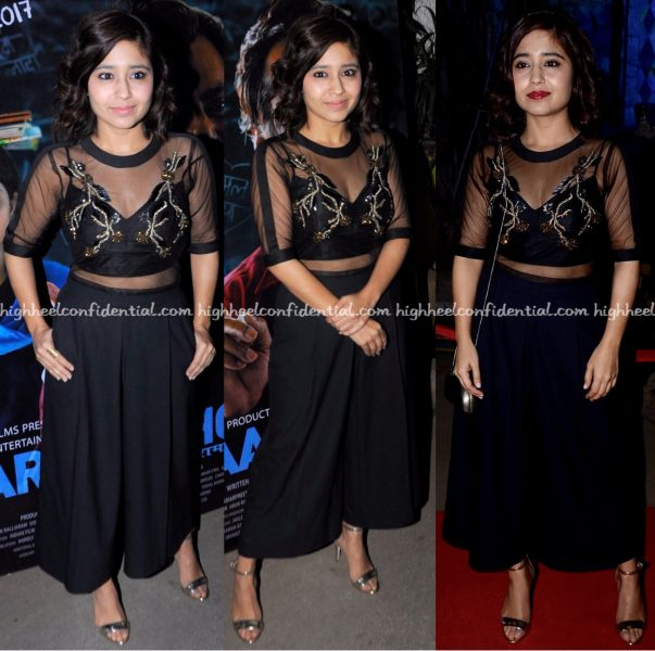 Shweta Tripathi In Rhea Pillai Rastogi At Haraamkhor Screening And At Elle Graduates 2017 Event