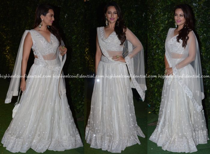 Sonakshi Sinha In Abu Jani Sandeep Khosla At Trishya Screwvala-Suhail Chandhok Wedding Reception-1
