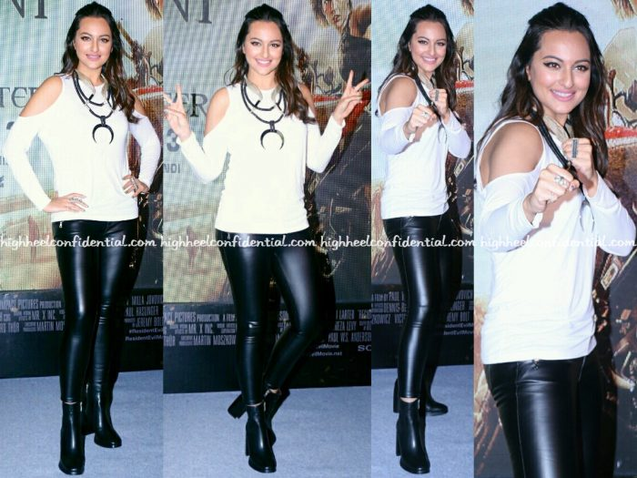 Sonakshi Sinha Wears Zara To 'Resident Evil- The Final Chapter' Promotion
