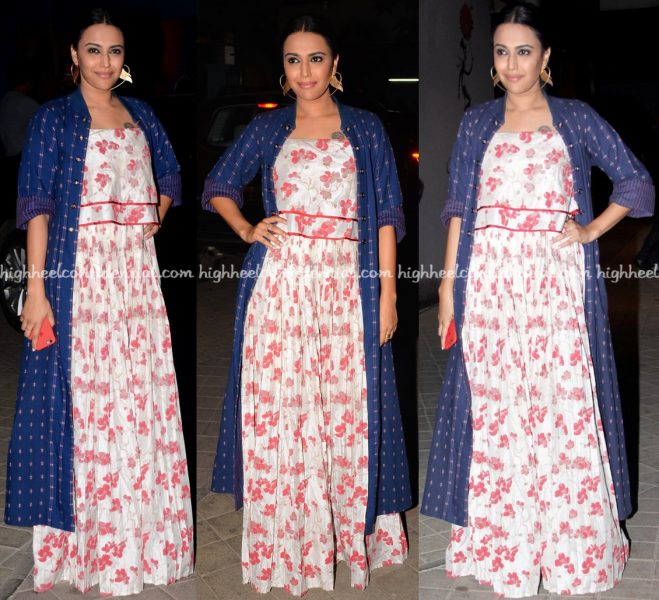 Swara Bhaskar At OK Jaanu Screening