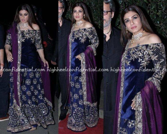 raveena-tandon-manish-malhotra-kapoor-wedding-reception