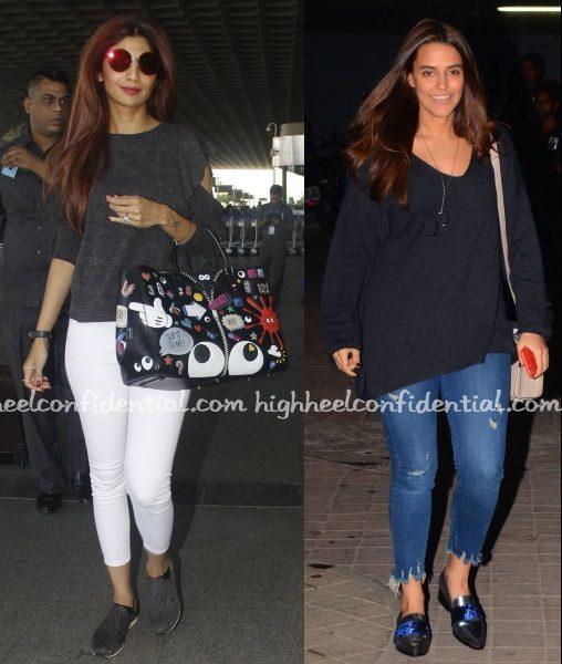 shilpa-shetty-anya-hindmarch-neha-ok-jaanu-screening-airport
