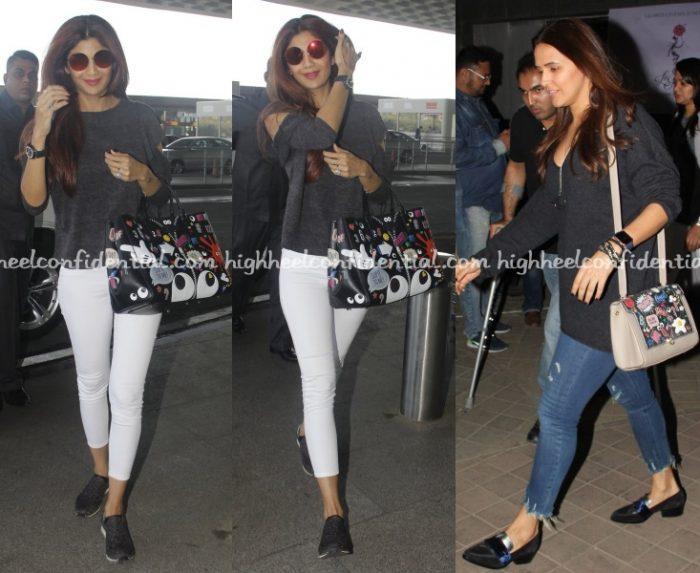 shilpa-shetty-anya-hindmarch-ok-jaanu-screening-airport