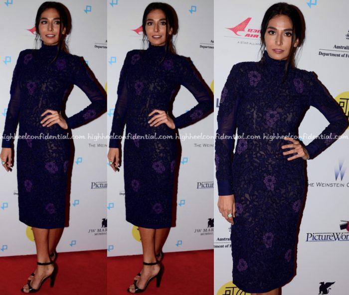 Monica Dogra Wears Nupur Kanoi To Lion Screening