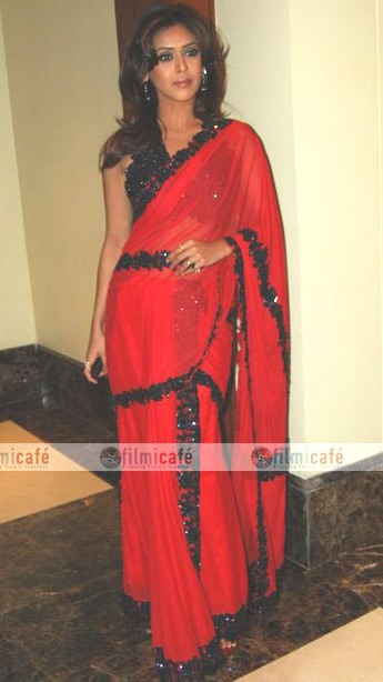 Hrishita Bhatt In Saree