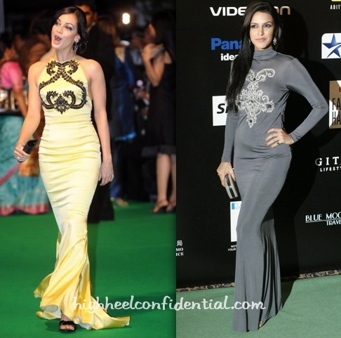 neha-dhupia-iifa-09-macau-grey-dress