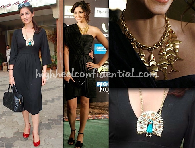 sonam-kapoor-fish-necklace-twinkle-khanna-peacock-necklace1