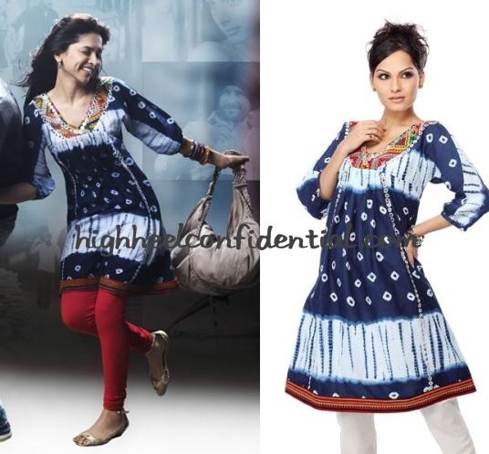 deepika-love-aaj-kal-blue-kurta