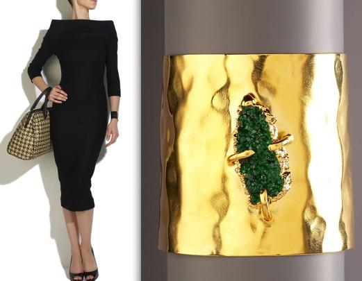 lust-list-august-09-victoria-beckham-collection-dress-gold-stone-cuff