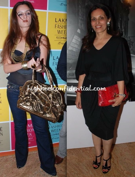 laila-khan-poonam-soni-lakme-fashion-week-michael-kors-bag