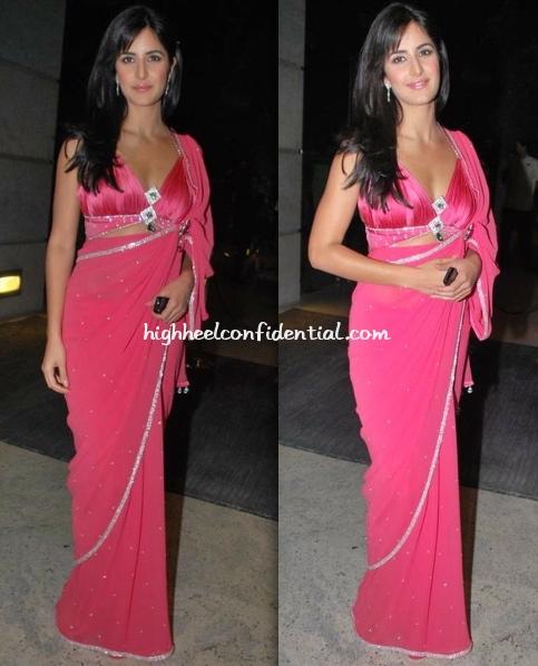 katrina-kaif-mukta-arts-anniversary-bash-pink-sari
