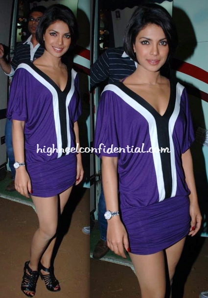 priyanka-chopra-pyaar-impossible-promotion-purple-dress