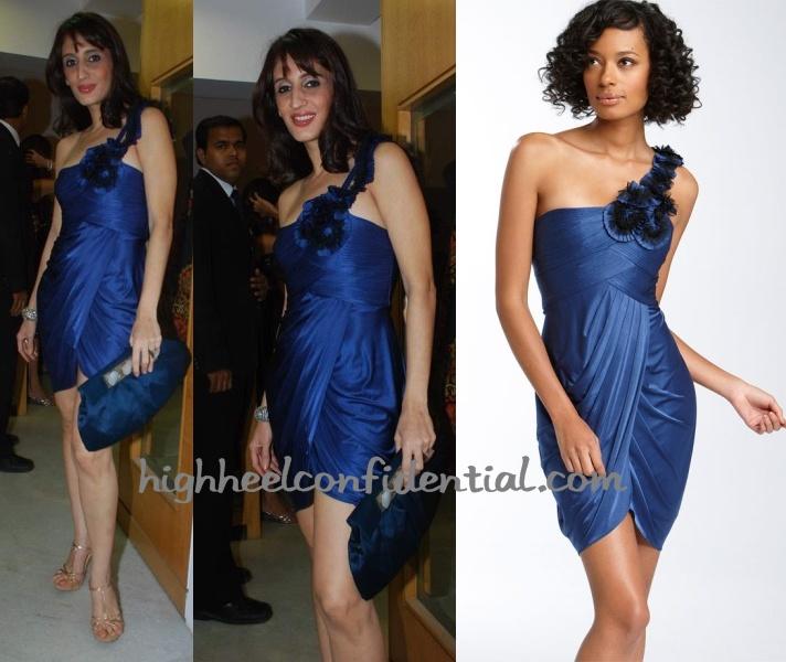 farah-khan-ali-vogue-event-blue-bcbg-dress