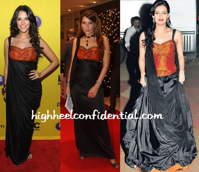 neha-dhupia-dia-mirza-shantanu-nikhil-gown