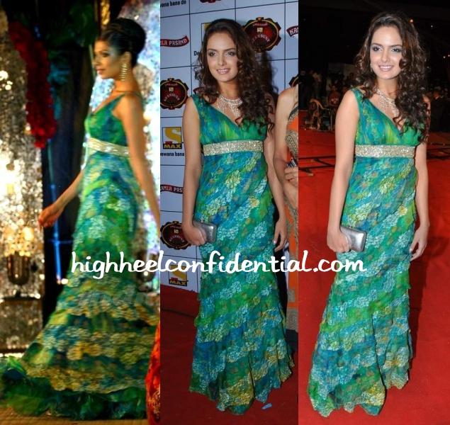 shahzahn-padamsee-stardust-awards-neeta-lulla-gown