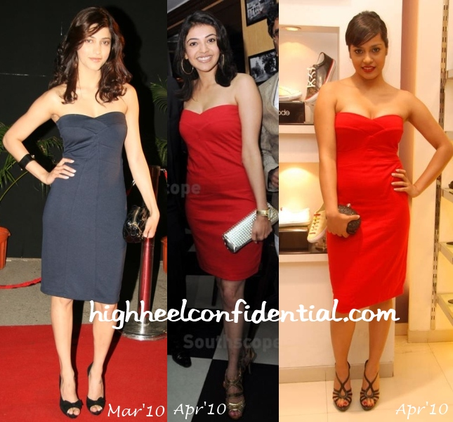 shruti-haasan-kajal-shahana-mango-dress