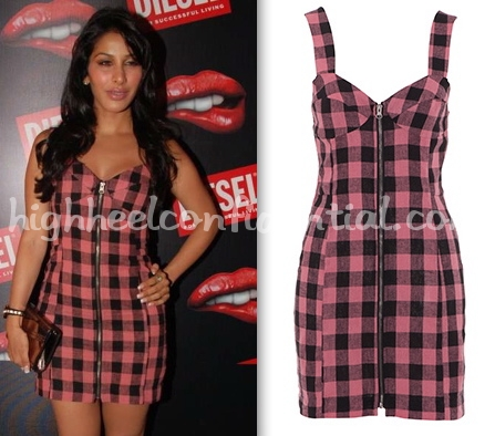 diesel-launch-mumbai-sophie-chaudry-american-retro-dress