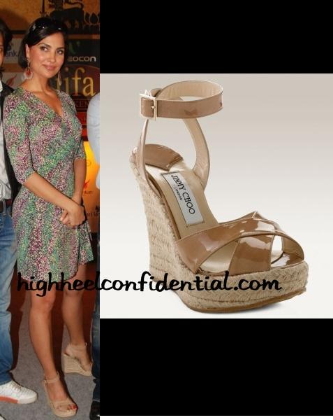 d248432a74 lara-dutta-phoenix-choo-sandals - High Heel Confidential