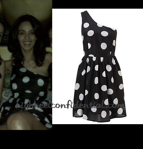 mallika-sherawat-forever-21-polka-dot-dress