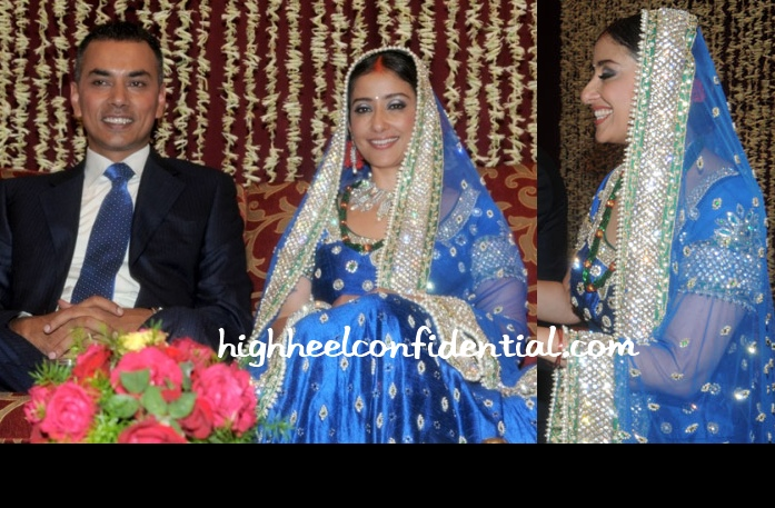 manisha-koirala-reception-blue-lehenga