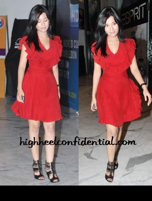 amrita-rao-ihls-screening-red-dress