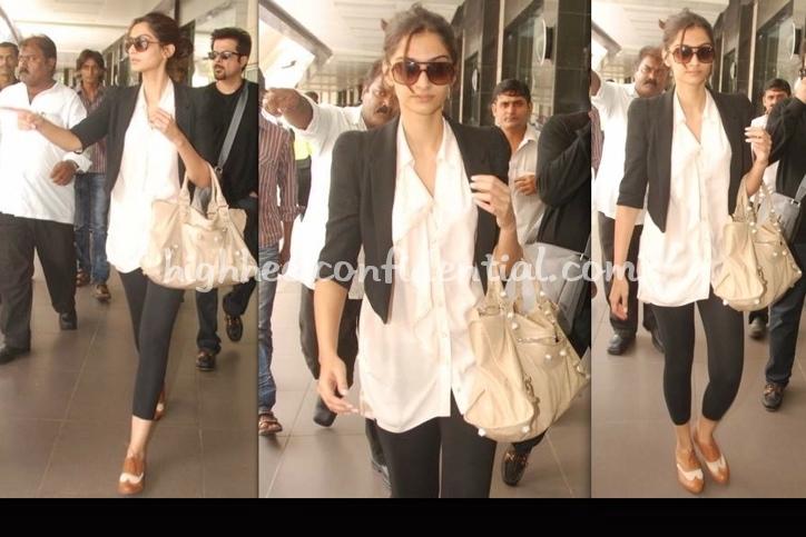 sonam-kapoor-mumbai-airport-balenciaga-bag