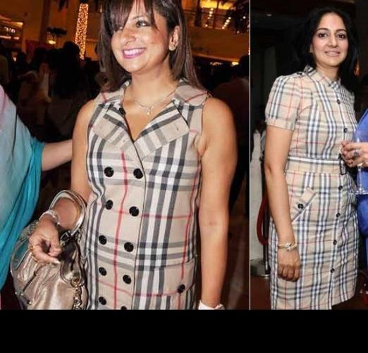 anjali-kapoor-burberry-print-dress