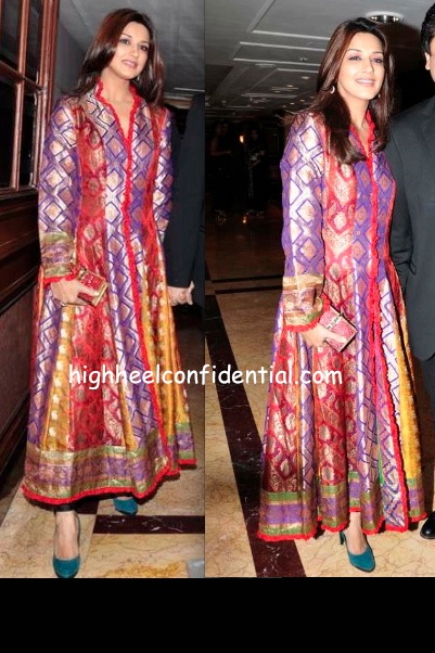 Sonali Bendre At Neelam And Sameer Sonis Wedding Reception
