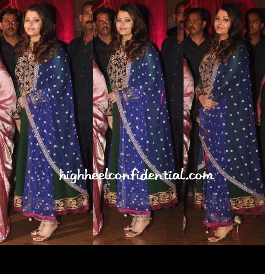 Aishwarya Rai Manish Malhotra Ritesh Genelia Wedding Reception