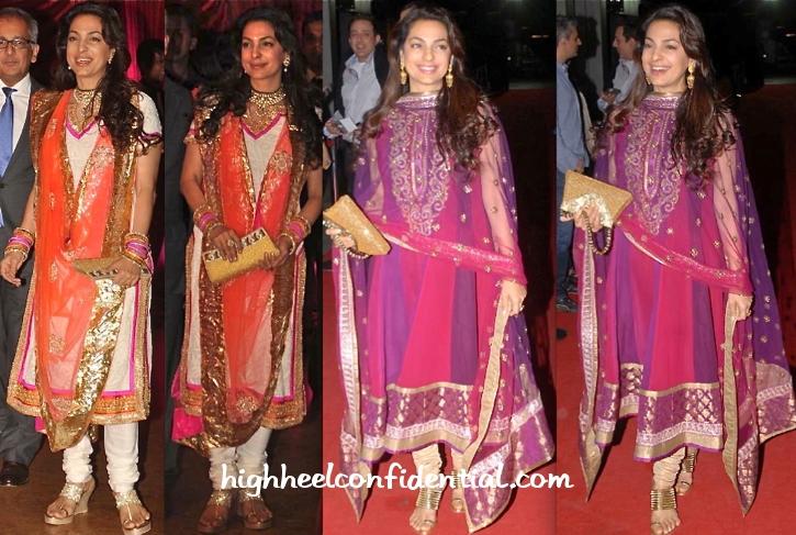 Juhi Chawla Lol Premiere Ritesh Genelia Wedding Reception High