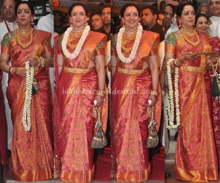 Hema Malini At Esha Deols Wedding